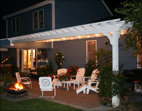 Outdoor Entertaining | Blue Heron Landscapes - Outdoor Pergola Lights