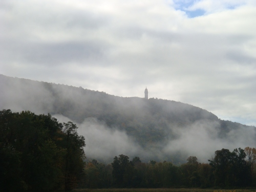 As the morning fog burns off the valley floor, revealing the Heublein Tower, life transitions from it's sleepy start into the vibrant bustle of the day.